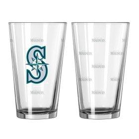 MLB Satin Etch Pint Glass Set