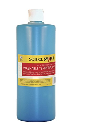 School Smart Washable Tempera Paint - Quart - Turquoise