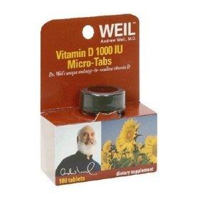 Dr. WEIL, Vitamin D 1000 UI - 100 tabs ( Multi-Pack)