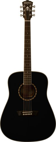 Washburn WD10S Dreadnought Acoustic Guitar - Black