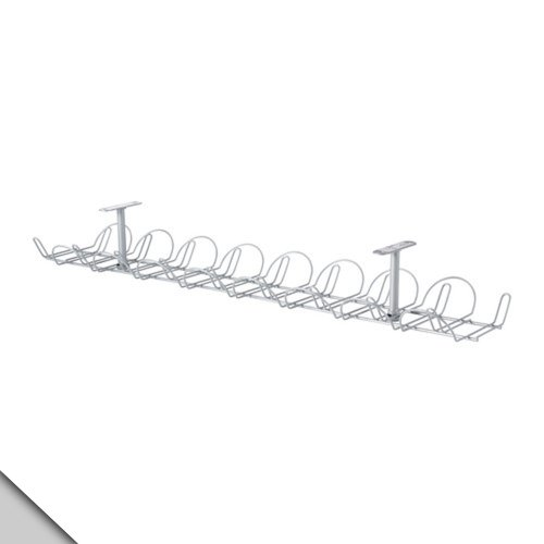 IKEA – SIGNUM Cable management, horizontal, silver color (FBA)
