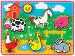 Small World Toys Ryan's Room Wooden Puzzles  - Chunky Farm