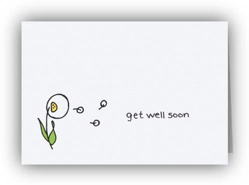 Dandelion in the Breeze Get Well Soon Cards