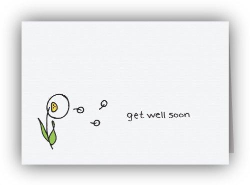 Dandelion in the Breeze Get Well Soon Cards