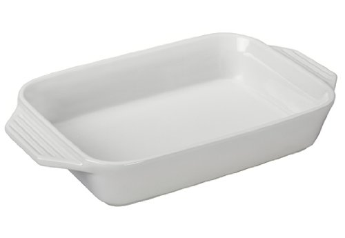 Le Creuset Stoneware Rectangular Dish, 10.5 By 7-Inch, White