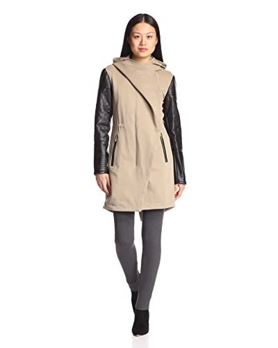 Vince Camuto Women's Contrast Sleeves Parka