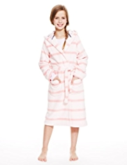Hooded Striped Soft & Cosy Dressing Gown