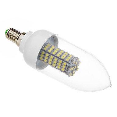 7 W E14 X3528Smd 118 Lm 5500-6500, 620-640 K Cold White Led Candle Bulb (220 V - 240 - V)