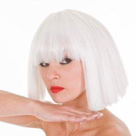 Lady Gaga Fame Monster Wig | Platinum Blonde | Cleopatra Style Wig| Lady Gaga Costume Wig