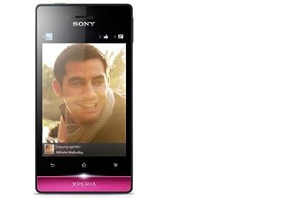 Sony Xperia Miro Smartphone débloqué (Ecran: 3.5 pouces - 4 Go) Noir/Rose (import Italie)