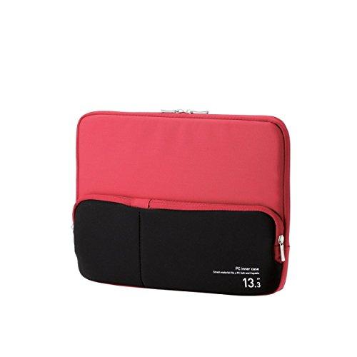 ELECOM PC用インナーバッグ ACアダプタ等小物収納ポケット付 13.3インチ レッド BM-IBPT13RD