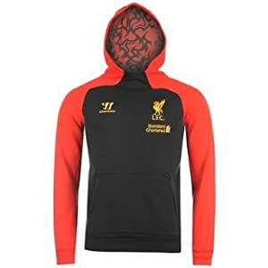 Warrior Liverpool Fc Hoody Mens Black Extra Lge