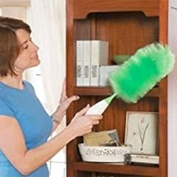 As Seen on TV. Creative Hand-held, As Seen On Tv Go Dust Electric feather spin Home Duster, green. Electronic Motorized Cleaning Brush three (3) size feathers Dusting heads and Dusting Spray included.
