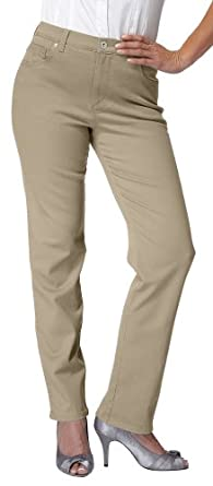 Gloria Vanderbilt Women's Amanda Straight Leg Jean, Latte, 6