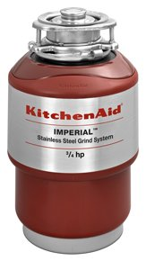 Kitchen Aid KCDI075V 3/4 HP Continuous Feed Garbage Disposal