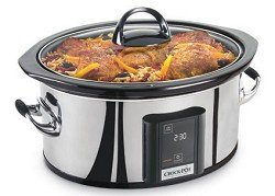 Crock-Pot SCVT650-PS 6-1/2-Quart Programmable Touch Screen Slow Cooker, Stainless