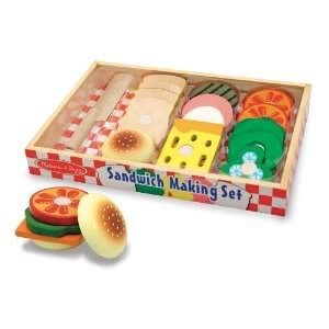 Toy / Game Superior M & D Wooden Sandwich-Making Set (513) With Colorful Smooth-Sanded Pieces front-973116