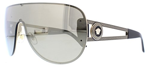 Versace Shield Sunglasses VE 2166 12525A Pale Gold