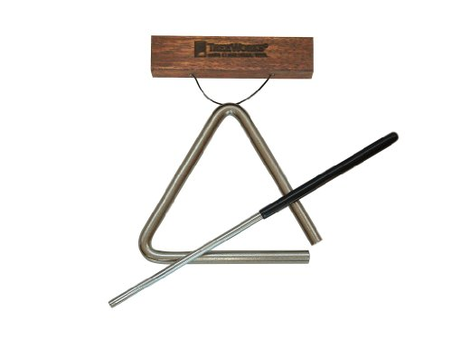 Treeworks Chimes Tre-Hs04 Studio-Grade 4 Inch Triangle With Beater And Triangle Holder
