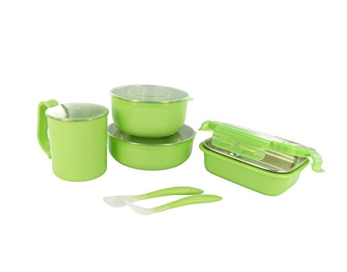 Onbi Baby Meals On The Go Feeding Set - Green - 1