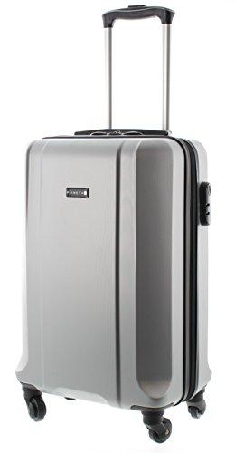 100-ABS-Koffer-Trolley-Handgepck-Pianeta-Serie-Boston-M-55cm-Silber