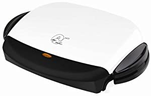 Low Price George Foreman GRP4 Next Grilleration 5-Burger Grill with Removable Plates, White