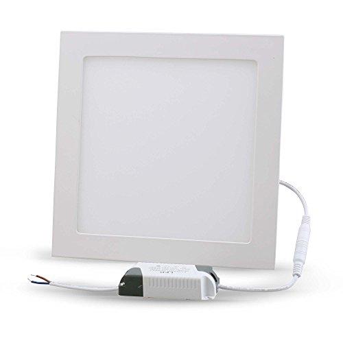 Vdomus® 18 Watt Led Panel Light Super Bright Ultra Thin Glare-Free, Square Recessed Lighting Fixture Kit, Warm White
