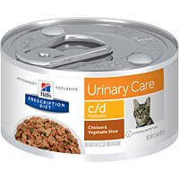 Hill's Prescription Diet c/d Feline Multicare Urinary Track Chicken & Vegetable Stew Canned Cat Food 24/2.9 oz