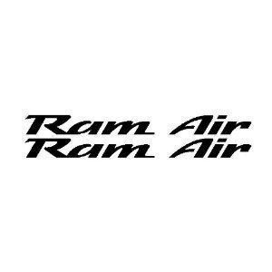 Firebird Trans Am RAM AIR Hood Stickers GLOSS BLACK (Ram Air Hood Firebird compare prices)