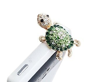 Evtech(Tm) Dust Plug- Earphone Jack Accessories Crystal Lovely Green Turtle/ Cell Charms / Ear Jack For Iphone 4 4S / Ipad / Ipod Touch / Samsung Galaxy /Lg Other 3.5Mm Ear Jack