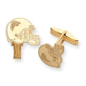14K Atlanta Falcons Logo Helmet Cuff Links - JewelryWeb