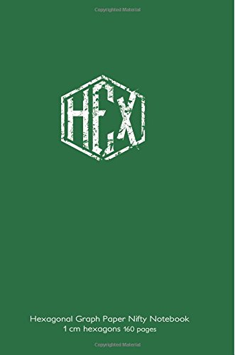 Hexagonal Graph Paper Nifty Notebook 1 cm hexagons 160 pages: 6