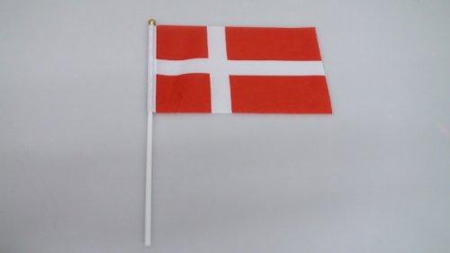 手旗 デンマーク/ 手旗 国旗 デンマーク 世界 ミニ 国旗 手旗