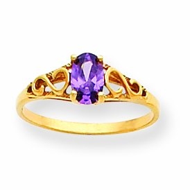 14k Madi K Synthetic Amethyst Ring