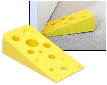 Swiss Cheese Door Wedge Set of 2 Door Stoppers