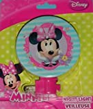 Disney Minnie Mouse Night Light Girls Room Bathroom Lights (PINK)