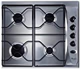 Whirlpool AKM260 Built In Gas Hob in White 4 gas burners automatic ignition