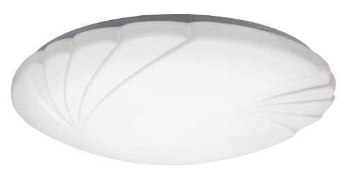 Lithonia 10512 M4 Crenelle Flush Mount Ceiling Light, White