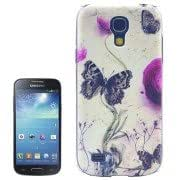 Butterfly Pattern Transparent Edge Plastic Case for Samsung Galaxy S IV mini / i9190