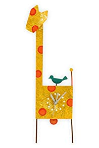 Oxidos Recycled Fair Trade Giraffe Clock (Light Orange)