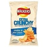 Walkers Extra Crunchy Cheddar & Sour Cream Crisps 150G
