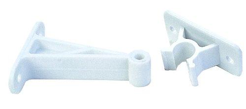 """Навесы, Крепежи и Аксессуары для жилых автофургонов JR Products 10204 3"""" PW Plastic C-Clip Style Door Holder"""