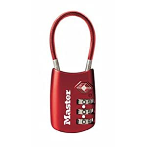 Master Lock 4688DRED TSA Accepted Cable Luggage Lock