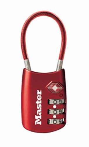 Master Lock 4688DRED TSA Accepted Cable Luggage Lock, Red Picture