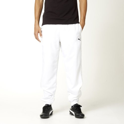 Puma tracksuit bottoms  zips at the hems white
