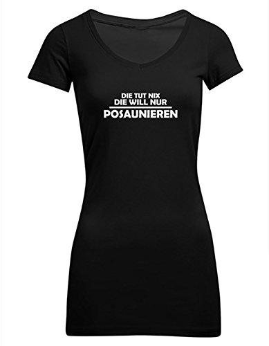 Die-tut-nix-die-will-nur-posaunieren-Frauen-T-Shirt-Extra-Lang-ID104232