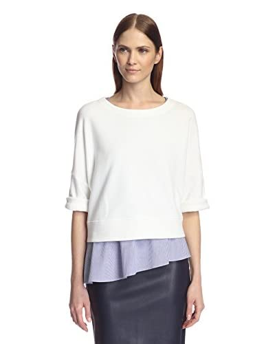 Derek Lam 10 Crosby Women's 2-in-1 Short Sleeve Sweatshirt