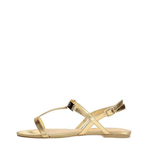 Liu Jo Donna Sandalo Pelle Flat Clarissa Con Placca metallica,37