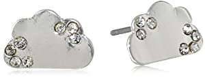 "Kensie ""Prime Shine"" Silver-Plated Cloud Stud Earrings"