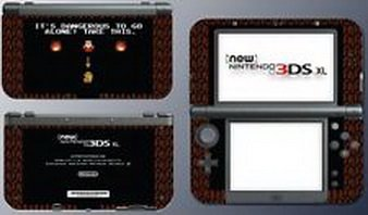 Blazers Skins - Retro Legend of Zelda Link NES Sword Cave Game Decal Skin New Nintendo 3DS XL (Nintendo 3ds Xl Cooking Games compare prices)
